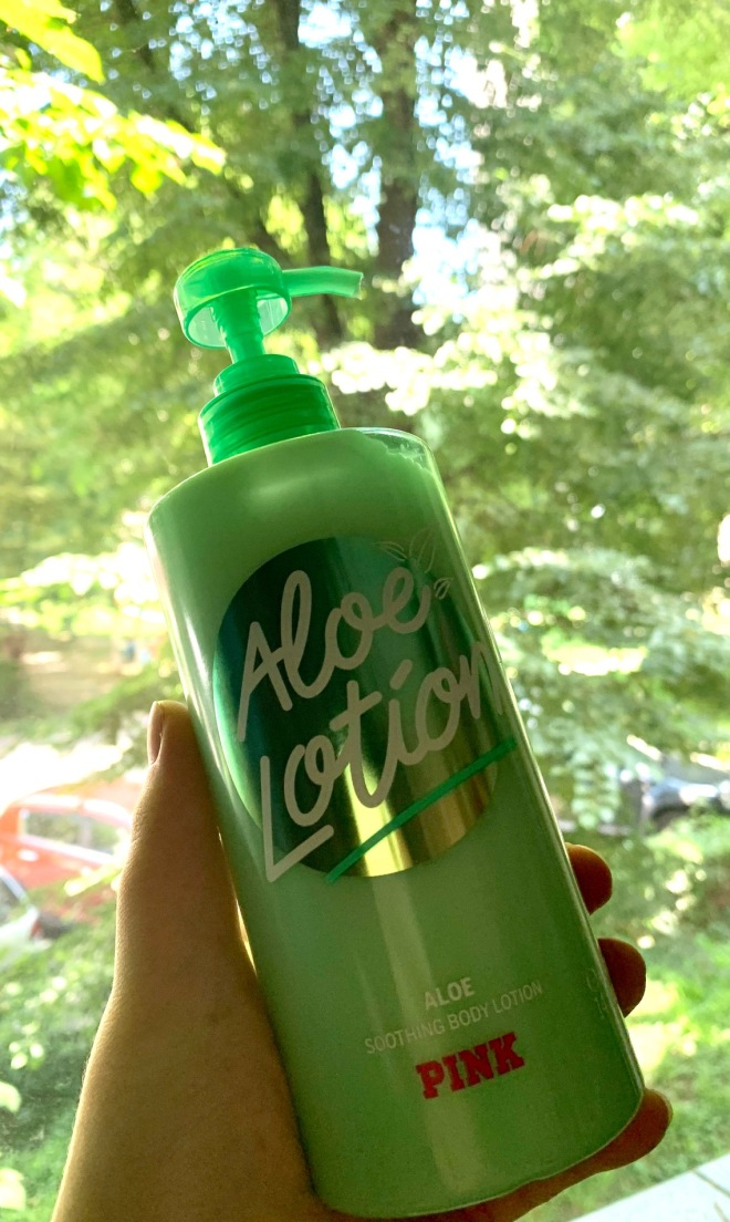 victoria secret pink aloe soothing body lotion