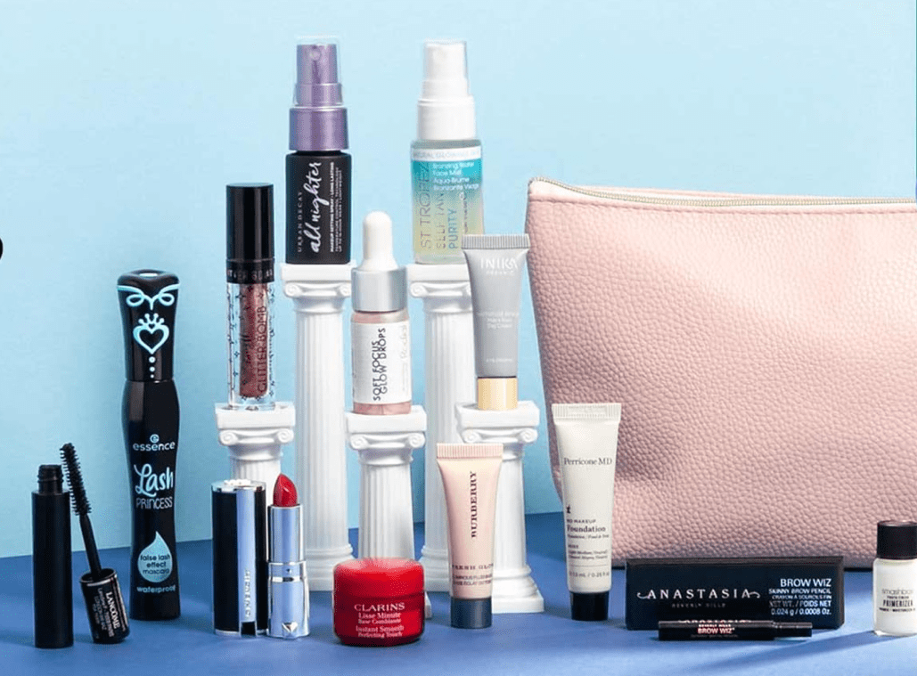 feelunique beauty gift with purchase makeup bag